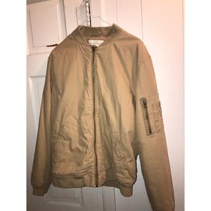 BROWN BOMBER JACKET H&M MENS MEDIUM